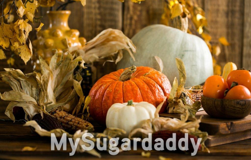 Kürbis essen zur Herbst Zeit